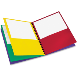 "Oxford™ 8-Pocket Paper Folder, 8 1/2"" x 11"", Assorted Colors"
