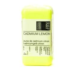R & F Handmade Paints Encaustic Paint Cake, 40 mL, Cadmium Lemon