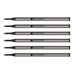 Monteverde® Rollerball Refills For Waterman Rollerball Pens, Fine Point, 0.5 mm, Black, Pack Of 6 Refills