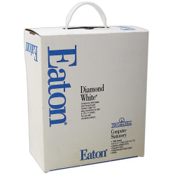 "Eaton Premium 25% Cotton Continuous Feed Paper, 9 1/2"" x 11"", 20 Lb, White, Carton Of 1,000 Forms"