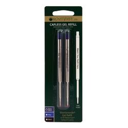 Monteverde® Capless Gel Refills For Waterman Ballpoint Pens, Fine Point, 0.5 mm, Blue/Black, Pack Of 2 Refills