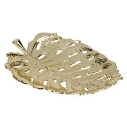 "Office Depot® Leaf Trinket Tray, 6-1/2"" x 5"", Gold"