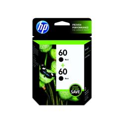 HP 60, Black Original Ink Cartridges (CZ071FN), Pack Of 2