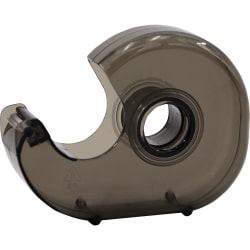 "Business Source Handheld Tape Dispenser - 1"" Core - Portable, Lightweight, Retractable Blade, Translucent - Plastic - Smoke - 1 Each"