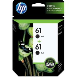 HP 61 Black Ink Cartridges (CZ073FN), Pack Of 2