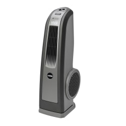 "Lasko High Velocity Floor Fan With Handle - 3 Speed - Oscillating - 31.5"" Height x 13.3"" Width x 10.3"" Depth - Gray, Black"