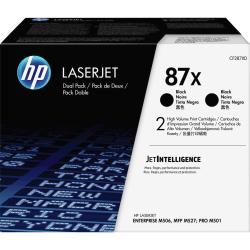 HP 87X (CF287XD) High-Yield Black Toner Cartridges, Pack Of 2