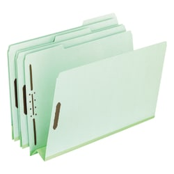 "Pendaflex® Pressboard Expanding Folders, 3"" Expansion, 8 1/2"" x 11"", Letter Size, 30% Recycled, Green, Box Of 25 Folders"