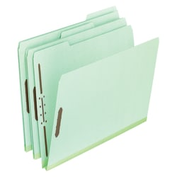 "Pendaflex® Pressboard File Folders, 2"" Expansion, Legal Size, 30% Recycled, Green, Box Of 25"