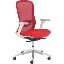 StyleWorks Tokyo Mid-Back Mesh Chair, Crimson