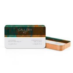 Custom Full-Color Luxury Heavy Weight Color Core Business Cards, Orange Core, Rounded Corners, 1-Side, Box Of 50