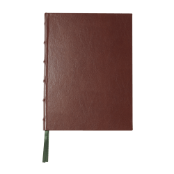 """Markings by C.R. Gibson® Bonded Leather Journal, 7 1/2"""" x 10"""", 256 Pages (128 Sheets), Brown"""