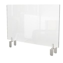 """Ghent Partition Extender, Attached Clamp, 24""""H x 29""""W x 3-7/8""""D, Clear"""