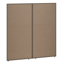 "Bush Business Furniture ProPanels 66""H Office Partition, 60""W, Harvest Tan/Taupe, Standard Delivery"