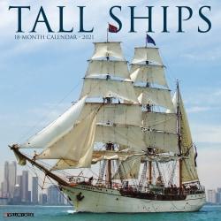 "Willow Creek Press Hobbies Monthly Wall Calendar, 12"" x 12"", FSC® Certified, Tall Ships, January to December 2021, 13472"
