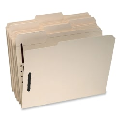 Oxford® Top-Tab File Folders With Fasteners, Legal Size, 2 Fasteners, Manila, Box Of 50