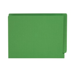 """Pendaflex® Color Straight-Cut End-Tab Folders, 8 1/2"""" x 11"""", Letter Size, Green, Pack Of 100"""