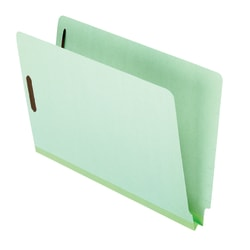 """Pendaflex® Pressboard End-Tab Expansion Folders With Fasteners, 2"""" Expansion, 8 1/2"""" x 14"""", Legal, Light Green, Box of 25"""