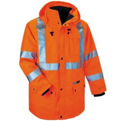 Ergodyne GloWear® 8385 Type R Class 3 High-Visibility 4-In-1 Jacket, Small, Orange