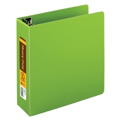 "[IN]PLACE® Heavy-Duty Easy Open® D-Ring Binder, 3"" Rings, 59% Recycled, Army Green"