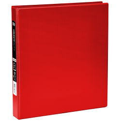 """[IN]PLACE® Heavy-Duty 3-Ring Binder, 1"""" D-Rings, Red"""