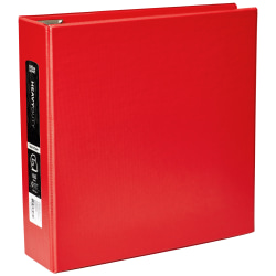 "Office Depot® Heavy-Duty 3-Ring Binder, 3"" D-Rings, Red"