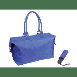 Nylon Tote And Umbrella Set, Blue