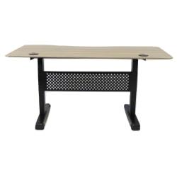 """Boss 60""""W Height-Adjustable Desk, Driftwood"""