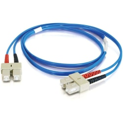 C2G-1m SC-SC 62.5/125 OM1 Duplex Multimode PVC Fiber Optic Cable - Blue