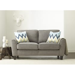 Serta® Astoria Deep-Seating Loveseat, Light Gray/Espresso