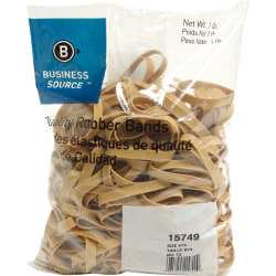 "Business Source Quality Rubber Bands - Size: #73 - 3"" Length x 0.4"" Width - Sustainable - 240 / Pack - Rubber - Crepe"