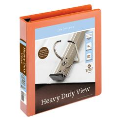 "Office Depot® Brand Heavy-Duty View 3-Ring Binder, 1 1/2"" D-Rings, Orange"