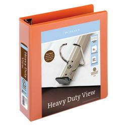 "Office Depot® Brand Heavy-Duty View 3-Ring Binder, 2"" D-Rings, Orange"