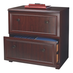 "Realspace® Broadstreet 30""W 2-Drawer Lateral File Cabinet, Cherry"