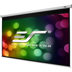 Elite Screens Manual B - 100-INCH 1:1, Manual Pull Down Projector Screen 4K / 8K Ultra HDR 3D Ready with Slow Retract Mechanism, 2-YEAR WARRANTY, M100S""