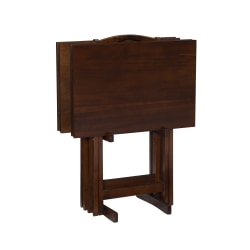 Powell Ardai 5-Piece Tray Table Set, Hazelnut