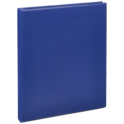 """Just Basics® Economy Nonview 3-Ring Binder, 1/2"""" Round Rings, 64% Recycled, Blue"""