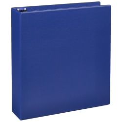 """Just Basics® Economy Nonview 3-Ring Binder, 2"""" Round Rings, 64% Recycled, Blue"""