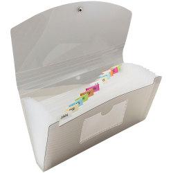 "JAM Paper® Expanding File, 4"" Expansion, 5"" x 8"", Smoke Gray"