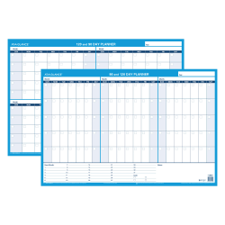 "AT-A-GLANCE® Undated Erasable/Reversible Wall Planner, 90 Days, 36"" x 24"""