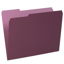 Pendaflex® 1/3-Cut Color Interior Folders, Letter Size, Burgundy, Box Of 100