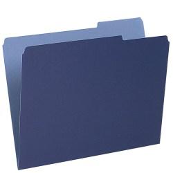 Pendaflex® 1/3-Cut Color Interior Folders, Letter Size, Navy, Box Of 100