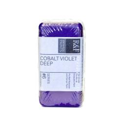 R & F Handmade Paints Encaustic Paint Cake, 40 mL, Cobalt Violet Deep