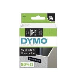 """DYMO® D1 45021 White-On-Black Tape, 0.5"""" x 23'"""