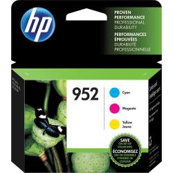 HP 952 Tri-Color Ink Cartridges (N9K27AN#140), Pack Of 3