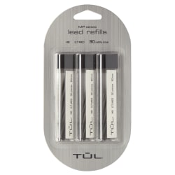 TUL® Lead Refills, 0.7 mm, HB Hardness, 30 Leads Per Tube, Pack Of 3 Tubes