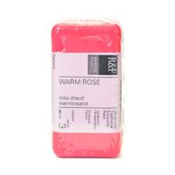 R & F Handmade Paints Encaustic Paint Cake, 40 mL, Warm Rose
