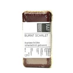 R & F Handmade Paints Encaustic Paint Cake, 40 mL, Burnt Scarlet
