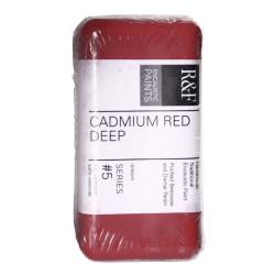 R & F Handmade Paints Encaustic Paint Cake, 40 mL, Cadmium Red Deep