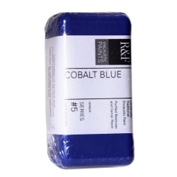 R & F Handmade Paints Encaustic Paint Cake, 40 mL, Cobalt Blue